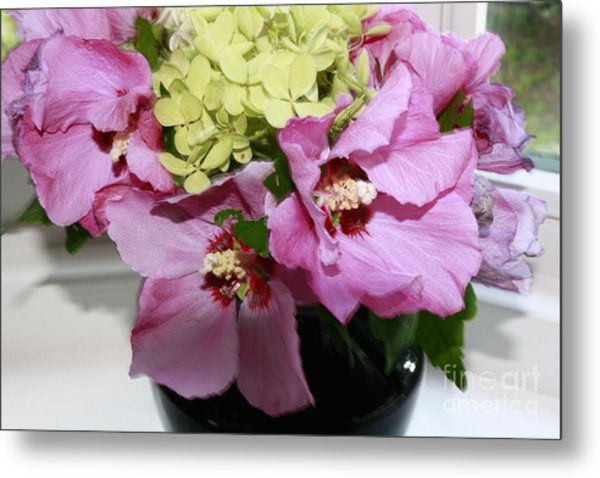 Hibiscus Summer Delight Metal Print by Arelys Jimenez