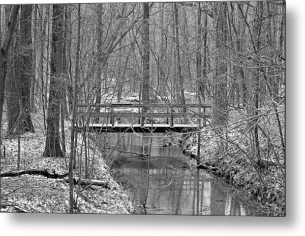 Hidden Bridge Metal Print