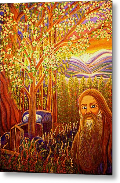 Hidden Mountain Man Metal Print