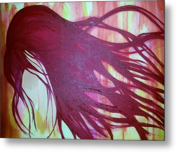 Hidden Pain  Metal Print by Faria  Ehsan