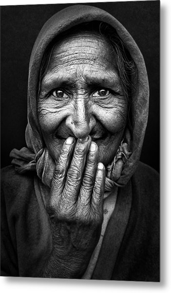 Hidden Smile Metal Print