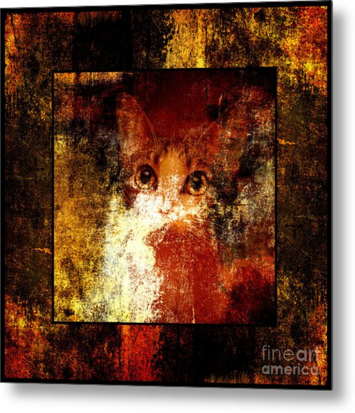 Hidden Square Metal Print