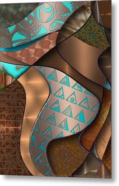 Hieroquoise Cupriglyphs Metal Print