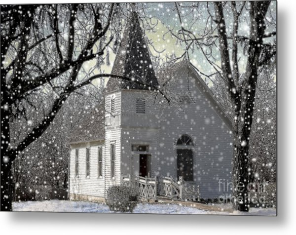 Higgensville Church Metal Print