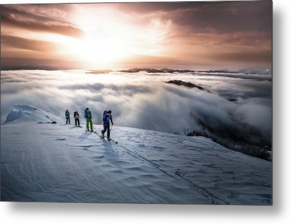 High Above The Fog Metal Print
