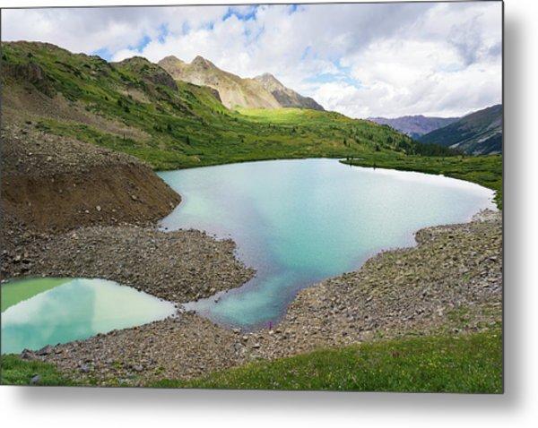 High Alpine Lake In Colorado Metal Print