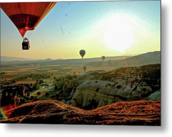 High Angle View Hot Air Balloons Metal Print by Ximena Guevara / Eyeem