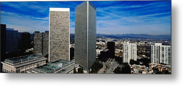 High Angle View Of A City, San Gabriel Metal Print