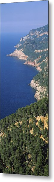 High Angle View Of A Coastline, Mirador Metal Print