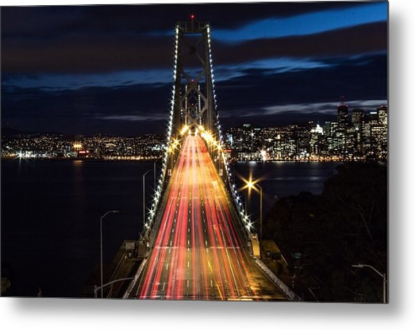 High Angle View Of Light Trails Metal Print by Lars Krafft / Eyeem