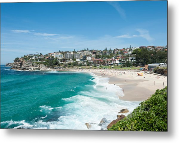 High Angle View Of The Bronte Beach Metal Print