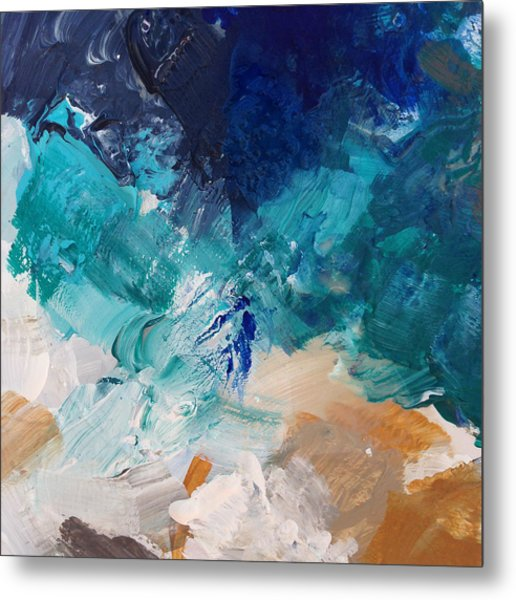 High As A Mountain- Contemporary Abstract Painting Metal Print