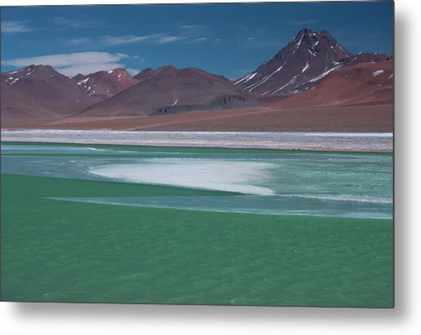 High In The Andes Mountains In Chile Metal Print