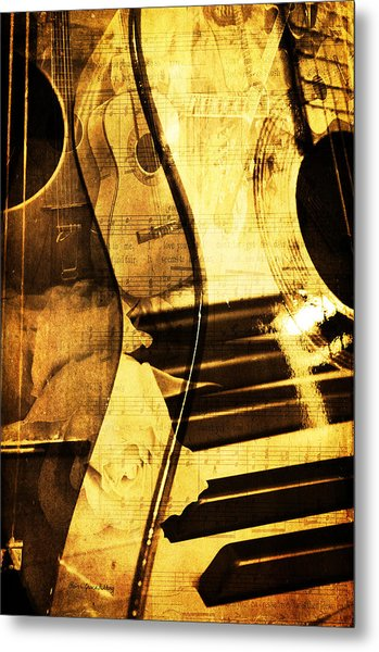 High On Music Metal Print