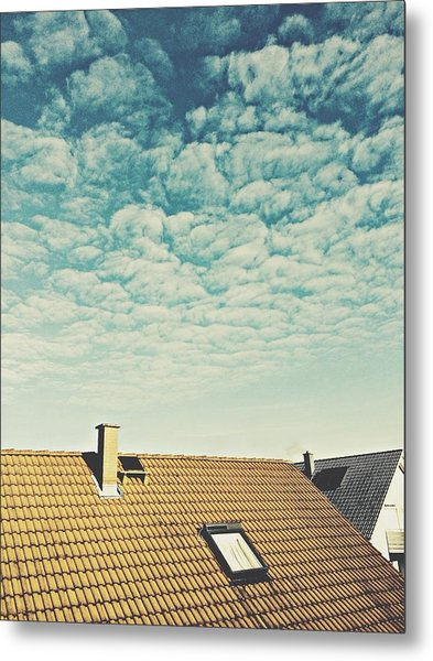 High Section Of Roof Tiles Metal Print by Thomas M. Scheer / Eyeem