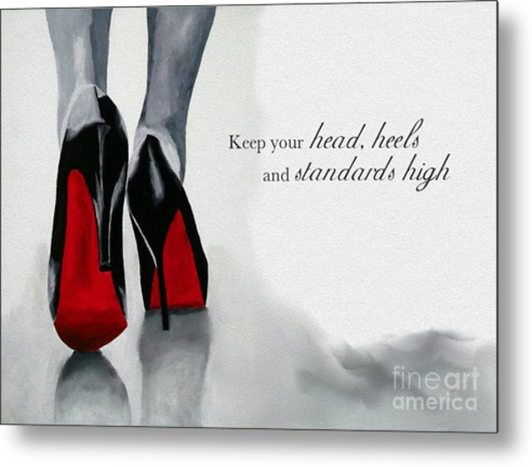 High Standards Metal Print