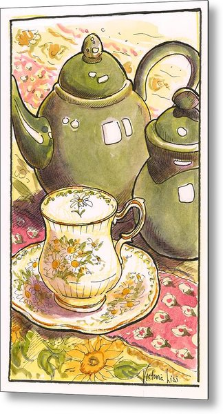 High Tea Metal Print