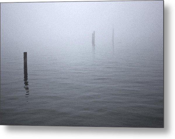 High Tide Sentinels Metal Print by Stephen Prestek