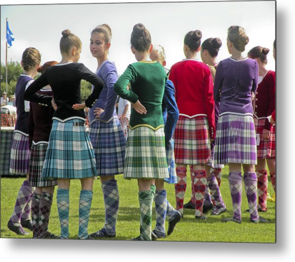 Highland Dancers Scotland Metal Print