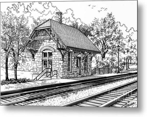 Highlands Train Station Metal Print