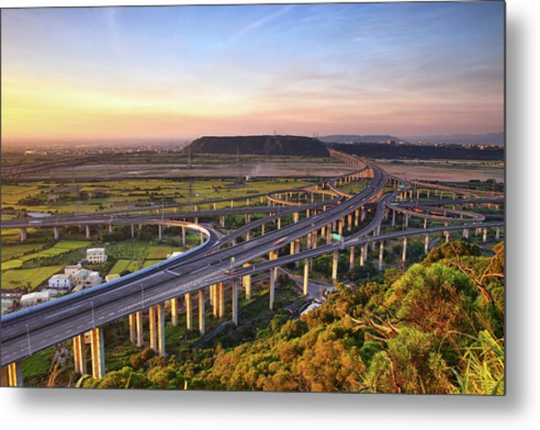 Highway Intersection With Golden Light by Thunderbolt tw (bai Heng-yao)  Photography