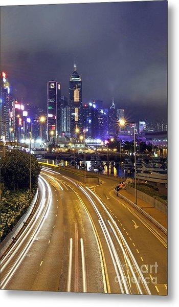 Highway To Hong Kong Metal Print by Lars Ruecker