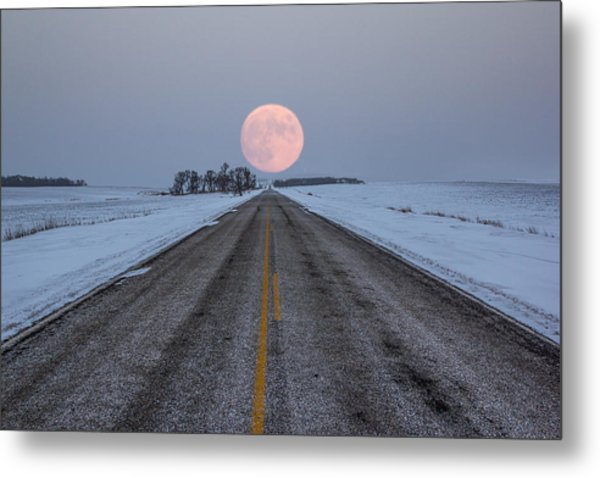Highway To The Moon Metal Print
