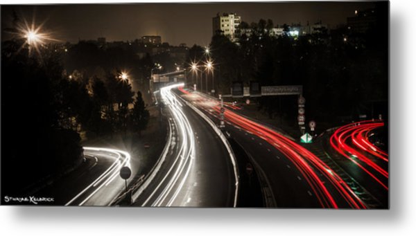 Highway's Lights Metal Print