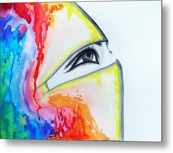 Hijab Veil Metal Print by Salwa  Najm