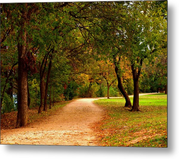 Hike And Bike Trail Metal Print