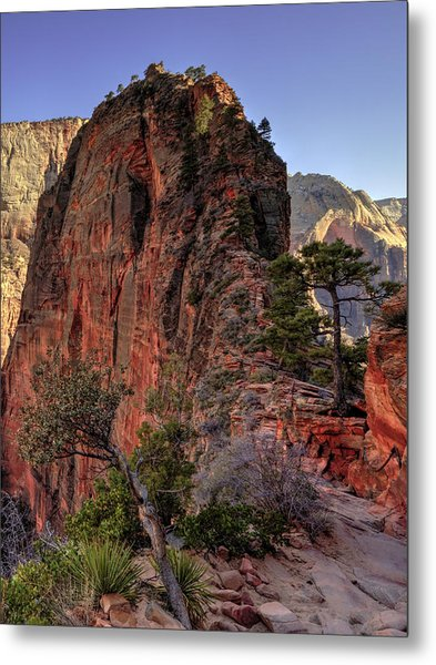 Hiking Angels Metal Print