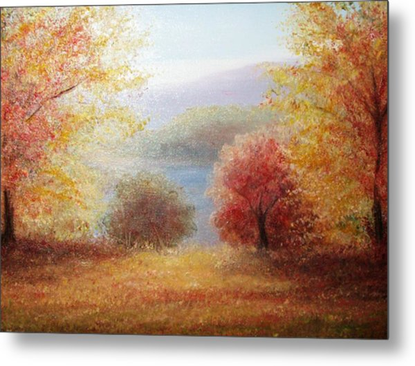 Hill Country Autumn Metal Print