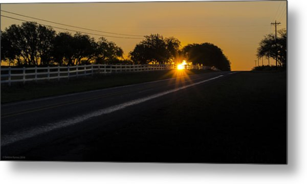 Hill Country Sunrise 2 Metal Print