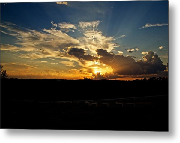 Hill Country Sunset Metal Print