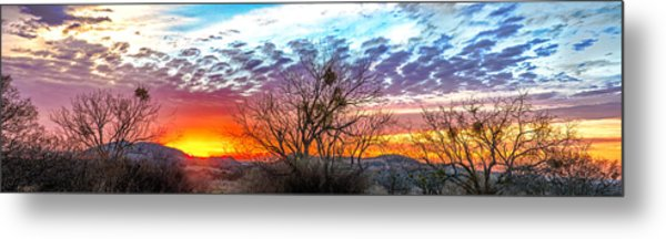 Hill Country Sunset Metal Print by Wally Taylor