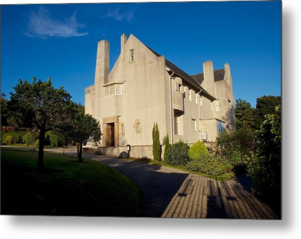 Hill House By Charles Rennie Mackintosh Metal Print