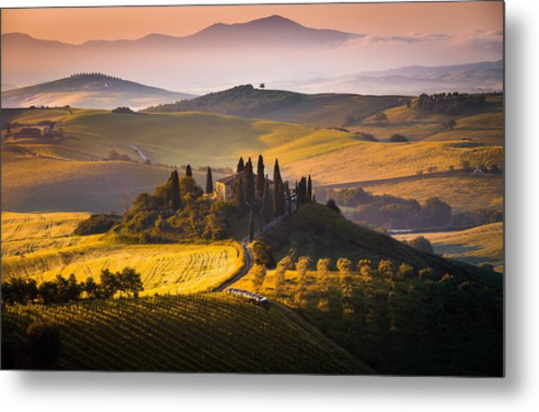 Hills And Houses Metal Print