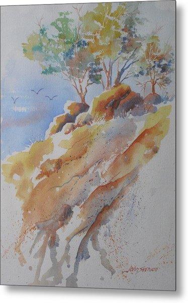 Hillside Rocks Metal Print