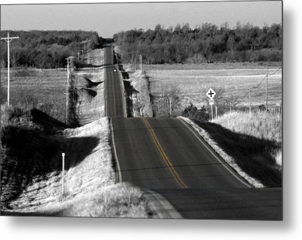 Hilly Ride Metal Print