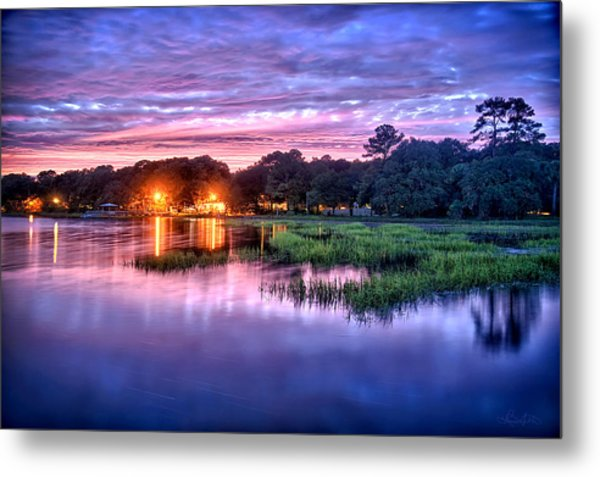 Hilton Head Evening Marsh Metal Print