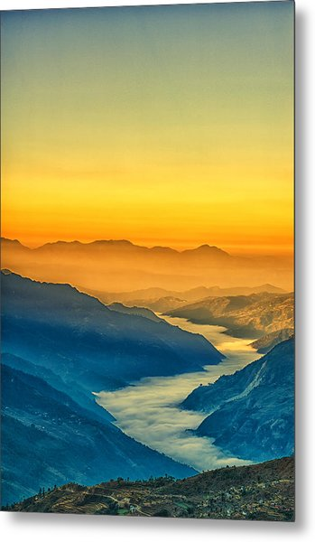 Himalaya In The Morning Light Metal Print