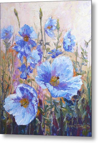 Himalayan Blue Poppies Metal Print