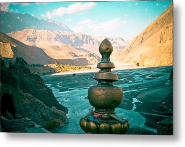 Himalayas Road To Upper Mustang  From Kagbeni Metal Print