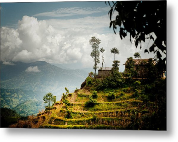 Metal Print featuring the photograph Himalayas Terrace Raimond Klavins Fotografika.lv by Raimond Klavins