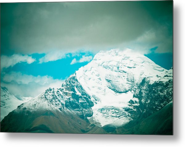 Himalyas Range Closeup View From Tibet Metal Print