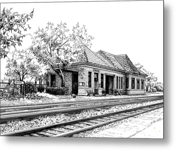 Hinsdale Train Station Metal Print