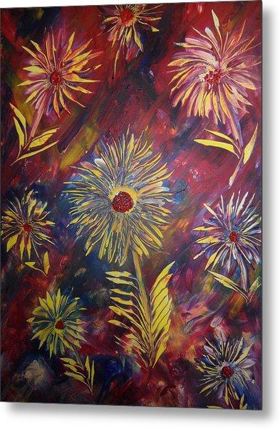 Hippy Flowers Metal Print by Nico Bielow