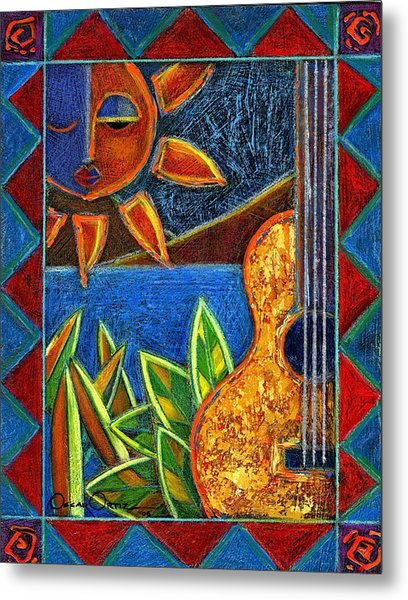 Metal Print featuring the painting Hispanic Heritage by Oscar Ortiz