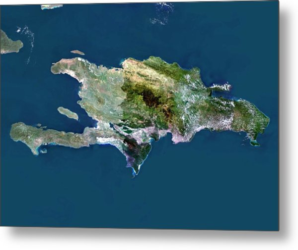 Hispaniola Photograph By Planetobserver Science Photo Library