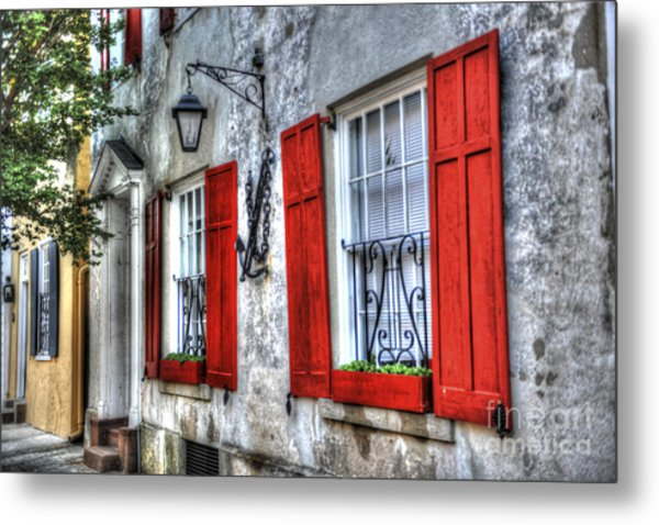Historic Charleston Pirates House Metal Print